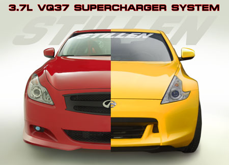 Supercharger System for the Nissan 370Z and Infiniti G37 with the 3.7L