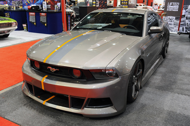 tjin edition mustang sits low but stands tall at sema 2010 vortech superchargers 39 blog. Black Bedroom Furniture Sets. Home Design Ideas