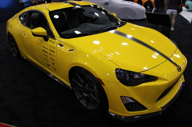 RJ DeVera's Vortech Supercharged Scion FR-S in the Scion Booth