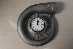 Vortech Volute Clock in Satin Finish