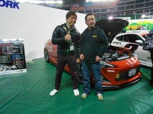 Hiro Miyaji with Mr. Uras himself, famous D1 drift driver Ken Nomura!!