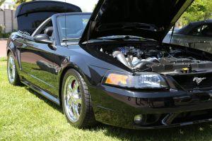 Black Vortech V-2 E Supercharged Mustang Cobra
