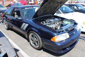 Blue Vortech V-1 Supercharged Fox Body Saleen Mustang