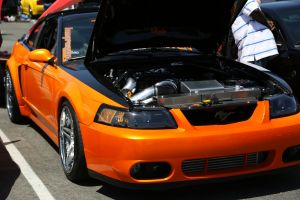 Ernie A's V-2 Ti Supercharged Targa Top Mustang GT