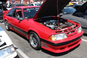 Red Vortech V-1 Supercharged Fox Body Saleen Mustang