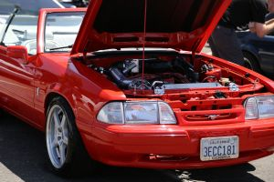 Red Vortech V-1 Supercharged LX Fox Convertible