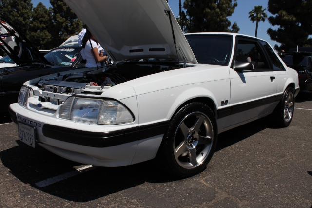 White V-3 Si Supercharged Fox Body LX Mustang
