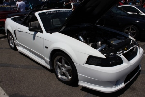 White Vortech Supercharged Roush GT Convertible
