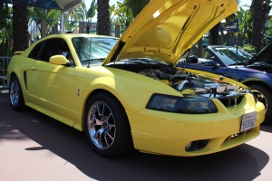Zinc Yellow Vortech Supercharged Mustang Cobra