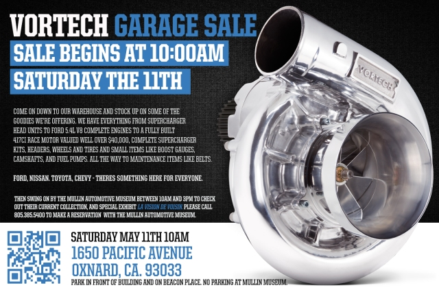VORTECH GARAGE SALE FLYER
