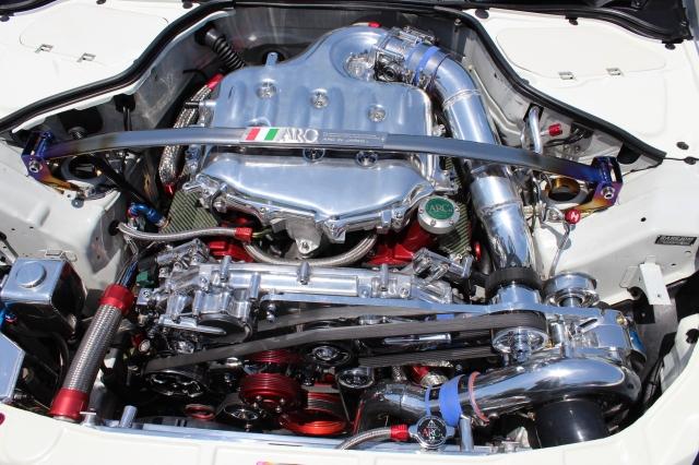 White Vortech Supercharged G35 Sedan