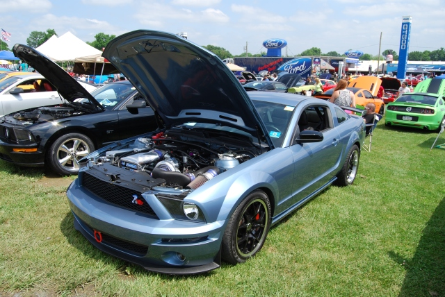 Windveil Blue Vortech V-2 Supercharged S197 GT