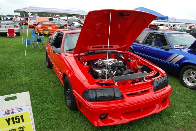 Red Vortech V-1 Supercharged Fox Body