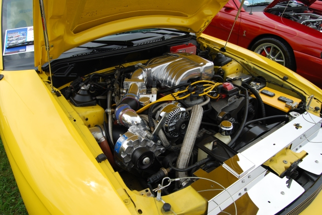 Yellow Vortech V-1 Supercharged '94 5.0 GT