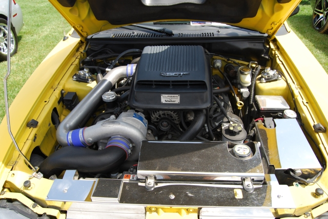 Yellow Vortech V-2 Supercharged Roush