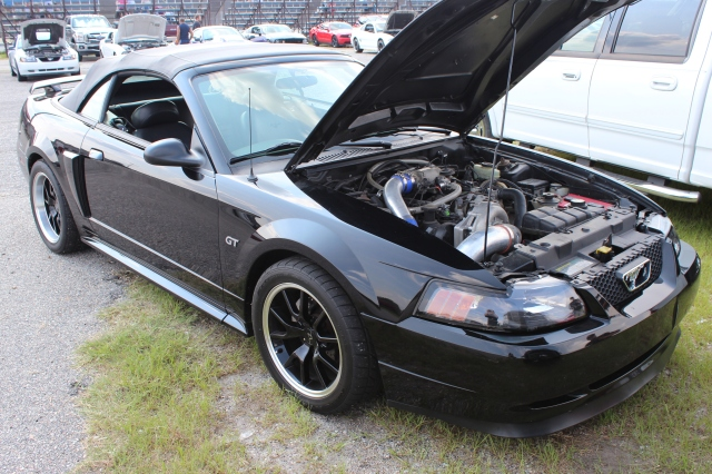 Black Vortech V-2 Supercharged Convertible GT
