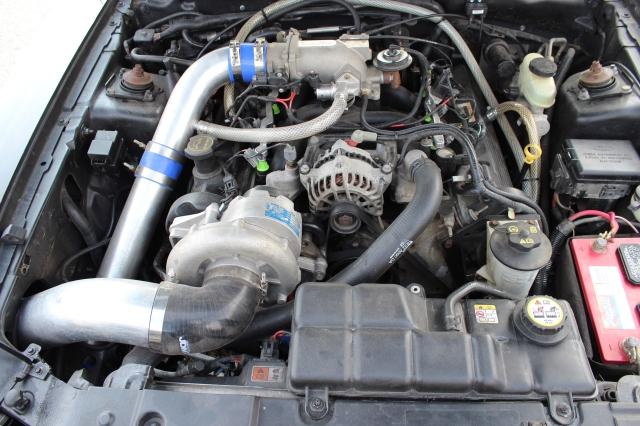 Black Vortech V-2 Supercharged Convertible GT
