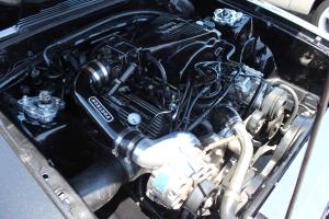 Black Vortech Supercharged Convertible Fox Body Mustang