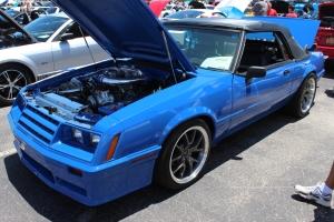 Blue Paxton NOVI 2000 Supercharged Convertible Fox Body Mustang