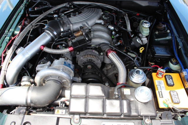 Vortech V-2 Supercharged Dark Highland Green 2001 Bullitt Mustang