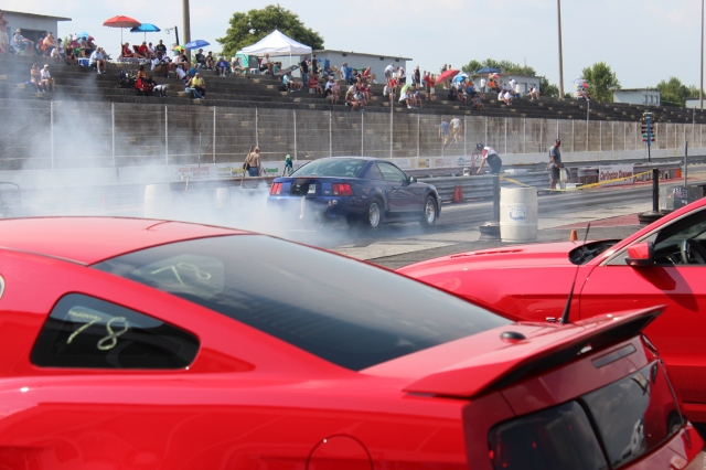 Blue Vortech Superchrged Mustang GT