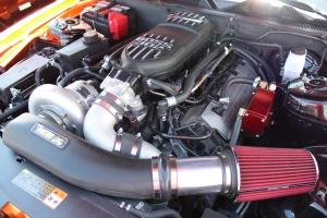 Lamborghini Orange Paxton NOVI 2200 Supercharged Coyote Mustang GT