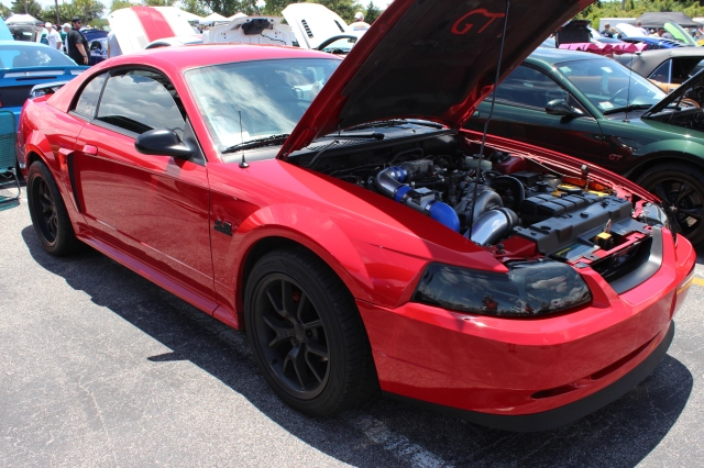 Red Vortech V-1 Supercharged New Edge Mustang GT