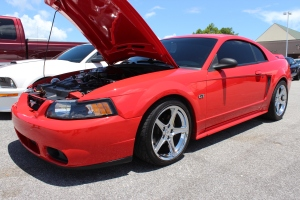 Red Paxton NOVI 2000 Supercharged New Edge Mustang GT