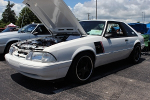 This Vortech V-2 Supercharged Roush Fox Body Mustang