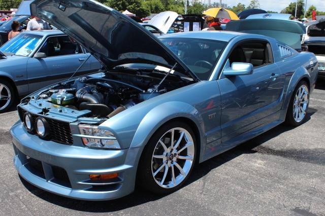 Vortech V-2 Supercharged Windveil Blue S197 Mustang GT