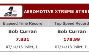 Bob Curran E.T and Top Speed Records