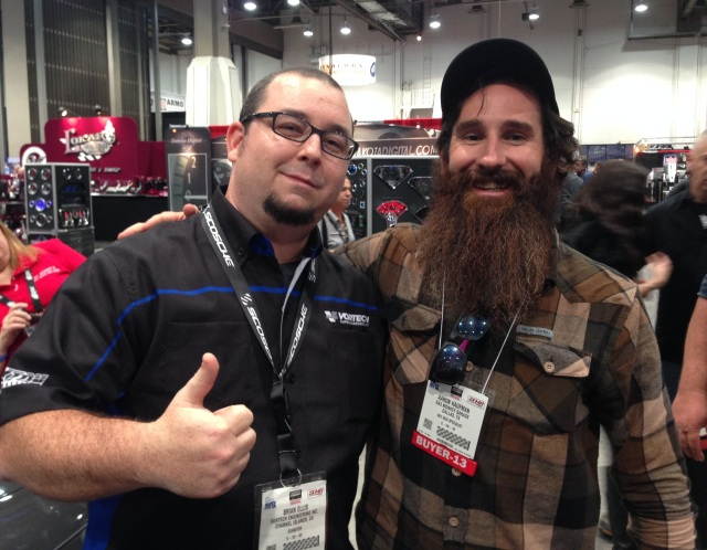 Aaron Kaufman from Gas Monkey Garage with Vortech's Brian Ellis