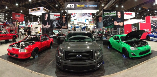 The APG/Vortech/Paxton Booth SEMA 2013