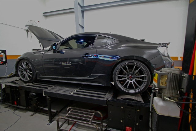 Tyrone Ongpauco's Vortech Supercharged Toyota 86 on the dyno at Speedworks