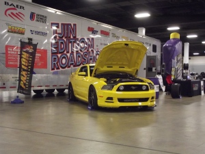 The Vortech Yellow Jacket Mustang GT at the South Carolina Auto Show