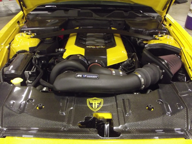 The Vortech V-3 Si Supercharged Yellow Jacket Mustang GT