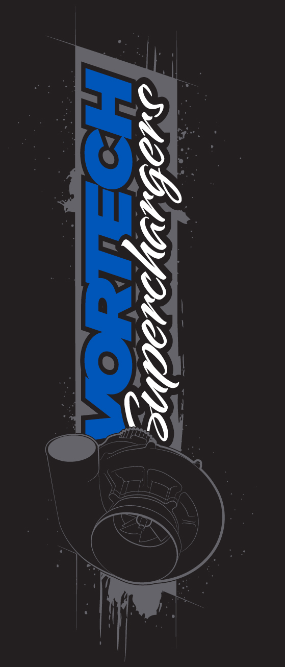 """Vortech Superchargers"" (Vertical) T-Shirt"