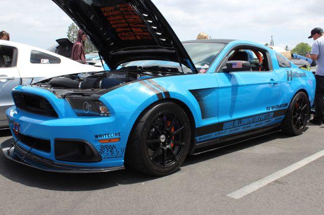 Ashton Stander 's Vortech V-3 Si Supercharged Grabber Blue 5.0L Coyote Mustang GT
