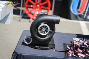 Vortech V-3 Si Supercharger display in Stealth Black Finish