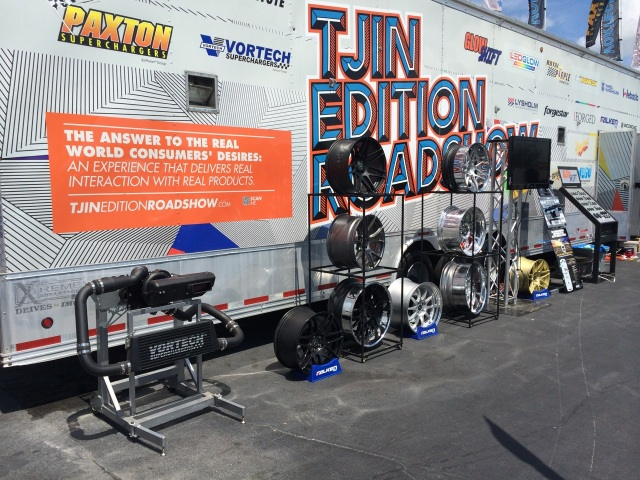 Tjin Edition Roadshow booth at UTI TMT Orlando