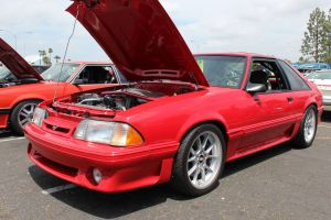 Red V-1 Vortech Supercharged Fox GT