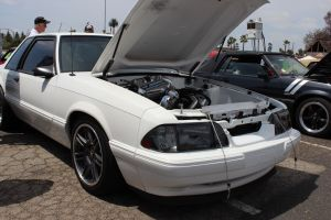 White V-1 T Supercharged & Air-To-Water Charge Cooled Fox Body Mustang