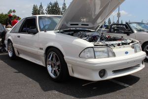White Vortech V-2 Supercharged Fox Body GT