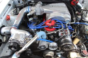 White Vortech V-2 Supercharged Fox Body GT