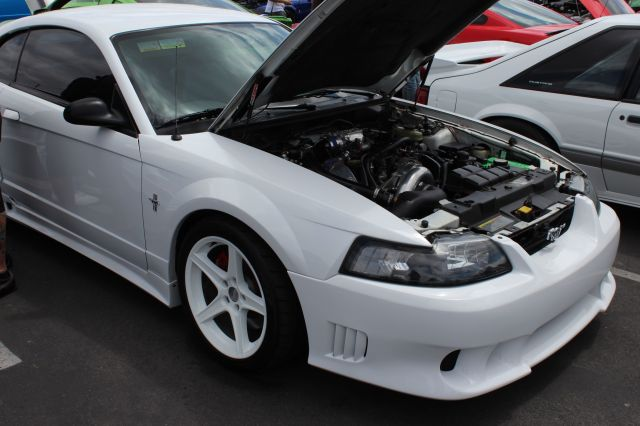 White on White Vortech V-3 Si Supercharged New Edge Mustang GT