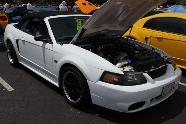White Vortech V-3 Supercharged Mustang GT Convertible
