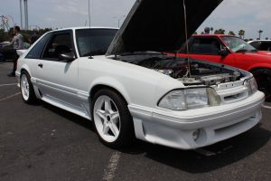 White on White Vortech Supercharged Fox Body Mustang GT