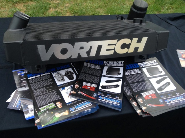 Vortech Ecoboost F150 Intercooler display with literature