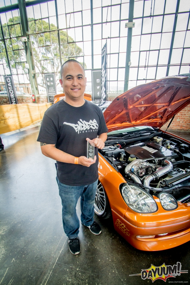 Best Supercharged Setup Winner John L with his Custom Supercharged Lexus GS400