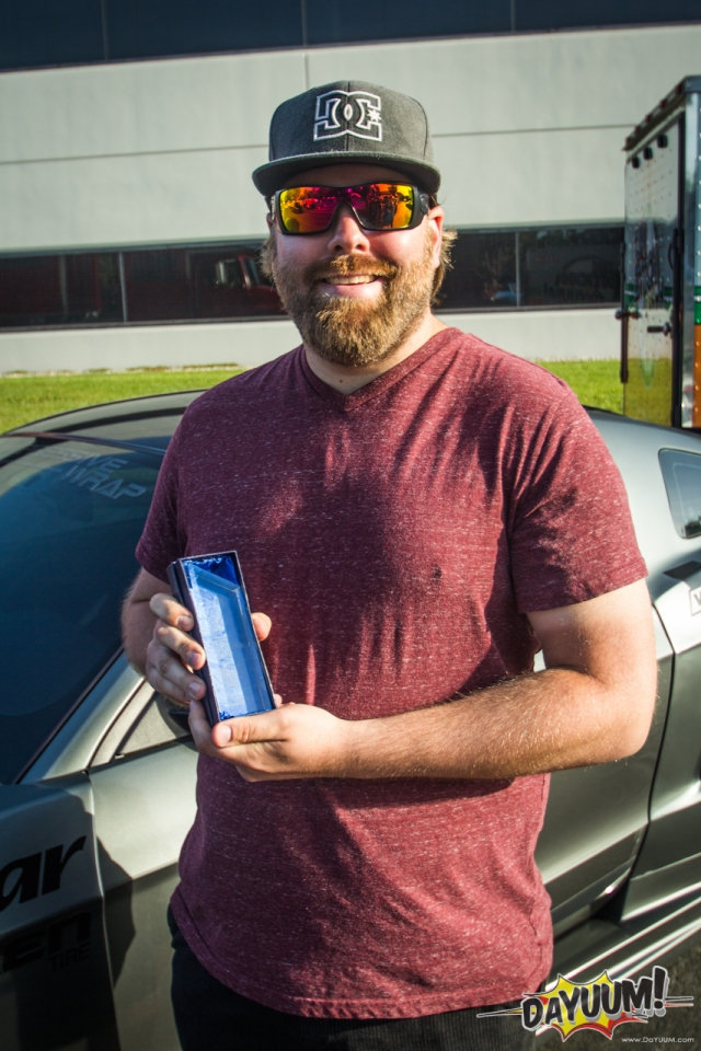"Jurrian with his ""Hottest Supercharged Setup"" Trophy"